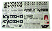 Kyosho Evolva Decal sheet fm500-01
