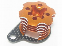 3 Racing Speed Control Engine Heatsink - Orange for Kyosho Mini Inferno Half8 mif-020/or