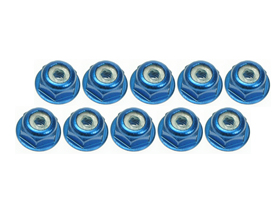BRP M3 Lock nut flanged Blue (4pcs.) 50369