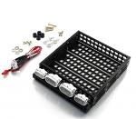 Yeah Racing 1/10 RC Rock Crawler Accessories Aluminum Luggage Tray w/ 4 White Light YA-0381