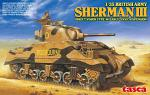 Asuka 1/35 British Army Sherman 3 Direct Vision Type (w/Early VVSS suspension) 501035017