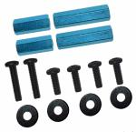 3Racing 4mm Hex Post Set (Light Blue) M4WD-02/LB