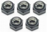 3Racing 4mm Aluminium Lock Nuts (Black) - 5 PCS 3rac-n40/bl