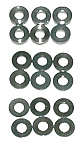 Schumacher Alloy Spacers M3x7mm 0.5;1;2mm (pk18) U3131