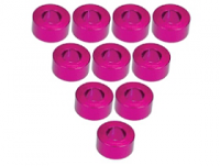 3Racing Aluminium M3 Flat Washer 3.0mm (10 Pcs) - Pink 3RAC-WF330/PK