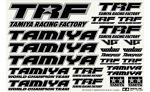 TAMIYA TRF Sticker C (Mirror Finish border/black) 42246