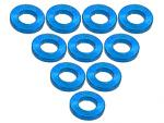 3Racing Aluminium M3 Flat Washer 1.0mm (10 Pcs) - Light Blue 3RAC-WF310/LB