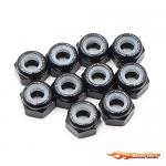 Yeah Racing Aluminium Lock Nuts (10pcs.) 3mm Black YA-0566BK