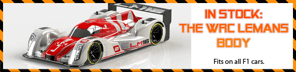 Now in stock: the new WRC LeMans body for all F1 cars!